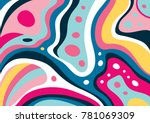 creative geometric colorful... | Shutterstock .eps vector #781069309