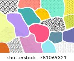 creative geometric colorful... | Shutterstock .eps vector #781069321
