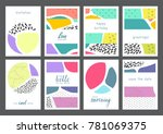 set of creative universal... | Shutterstock .eps vector #781069375