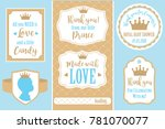 set of vector vintage frames.... | Shutterstock .eps vector #781070077