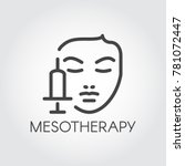 face mesotherapy line icon.... | Shutterstock .eps vector #781072447