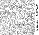 tracery seamless pattern.... | Shutterstock .eps vector #781074475