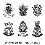lily flowers royal symbols ... | Shutterstock . vector #781075531