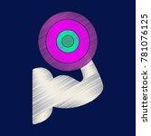 flat shading style icon logo... | Shutterstock .eps vector #781076125