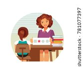 woman psychologist tests the... | Shutterstock .eps vector #781077397