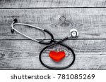 new stethoscope with plush... | Shutterstock . vector #781085269