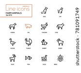 farm animals   line design...