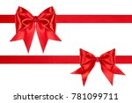 red bows with ribbons  isolated ... | Shutterstock . vector #781099711