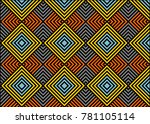 vintage abstract pattern | Shutterstock .eps vector #781105114