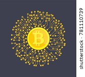 crypto currency bitcoin. net... | Shutterstock .eps vector #781110739