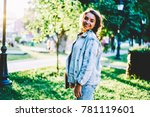 half length portrait of... | Shutterstock . vector #781119601