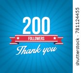 200 followers. vector... | Shutterstock .eps vector #781124455