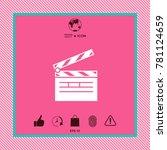 clapperboard symbol icon   Shutterstock .eps vector #781124659