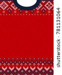 ugly sweater merry christmas... | Shutterstock . vector #781131064