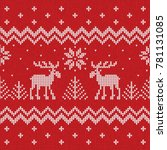 ugly sweater merry christmas... | Shutterstock . vector #781131085