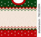ugly sweater merry christmas... | Shutterstock . vector #781131094