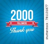 2000 followers vector... | Shutterstock .eps vector #781131877