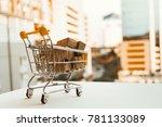 mini shopping cart contain...   Shutterstock . vector #781133089