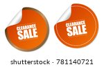 clearance sale stickers | Shutterstock .eps vector #781140721