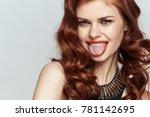 beautiful young woman  make up  ... | Shutterstock . vector #781142695