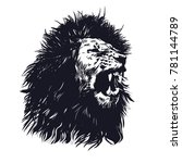 hand drawn lion.lion vector... | Shutterstock .eps vector #781144789