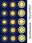 set of sun emoticon...   Shutterstock .eps vector #781147027