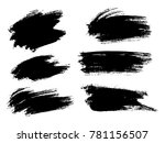 painted grunge stripes set.... | Shutterstock .eps vector #781156507