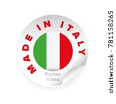 made in italy label tag sign | Shutterstock .eps vector #781158265