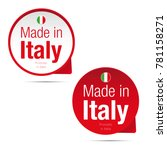 made in italy label tag sign | Shutterstock .eps vector #781158271