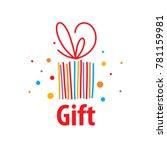 vector logo gift | Shutterstock .eps vector #781159981