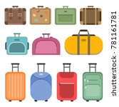 different handle bags and... | Shutterstock .eps vector #781161781