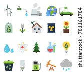 different green symbols on the... | Shutterstock .eps vector #781161784