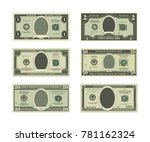Template Of Fake Money. Vector...