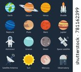 planets of solar system and... | Shutterstock .eps vector #781162399