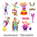 funny clowns characters and... | Shutterstock .eps vector #781162645