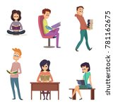 different gadgets for reading.... | Shutterstock .eps vector #781162675