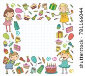 happy birthday vector design... | Shutterstock .eps vector #781166044