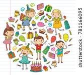 happy birthday vector design... | Shutterstock .eps vector #781166095