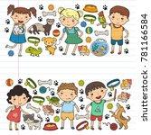 children zoo pet shop... | Shutterstock .eps vector #781166584