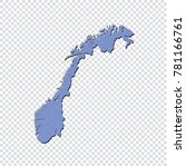 norway map   high detailed blue ... | Shutterstock .eps vector #781166761