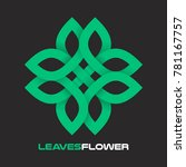 flower from the leaves of the...   Shutterstock .eps vector #781167757