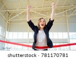 businesspeople on a finish | Shutterstock . vector #781170781