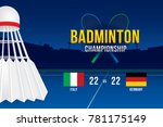 badminton tournament design...   Shutterstock .eps vector #781175149
