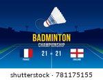 badminton tournament design... | Shutterstock .eps vector #781175155