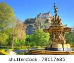 edinburgh castle  scotland | Shutterstock . vector #78117685