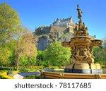 edinburgh castle  scotland | Shutterstock . vector #78117685