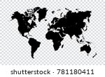 world map   black map of world... | Shutterstock .eps vector #781180411