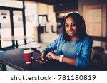 half length portrait of... | Shutterstock . vector #781180819