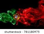 portugal flag smoke   Shutterstock . vector #781180975