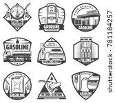 vintage monochrome petrol... | Shutterstock .eps vector #781184257